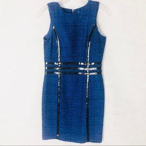 MICHAEL Michael Kors Blue Tweed Like Dress